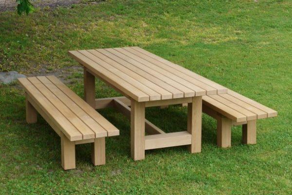 Gartengarnitur Holz Eiche